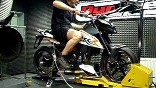 7. KTM DUKE 690- Dyno test run (73hp)