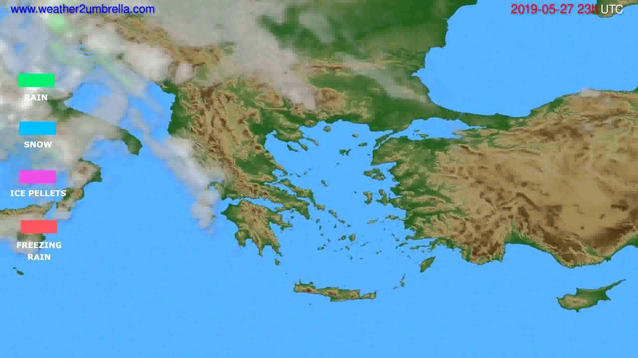 Precipitation forecast Greece // modelrun: 12h UTC 2019-05-24