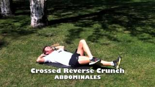 Crossed Reverse Crunch.