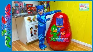 Video Biggest PJ Masks Surprise Egg Toys Ever Giant Disney Junior Eggs Toy Surprises CatBoy IRL Slide MP3, 3GP, MP4, WEBM, AVI, FLV Desember 2017