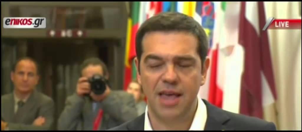 Δηλώσεις προθυπουργού μετα την σύνοδο κορυφής