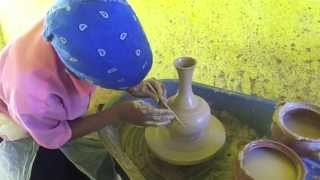 Traditional Jewish Ethiopian (Falasha) Women Make Hand Made Pottery In Ethiopia