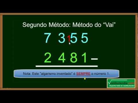 Matemática Zero 2.0 - Aula 5 - Subtração - (parte 1 de 1)