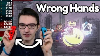 Beating Super Mario Odyssey With Joycons in the Wrong Hands