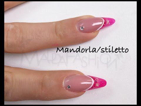 nail art classic almond