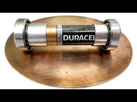 Электродвигатель из подшипника и батарейки. Занимательная физика