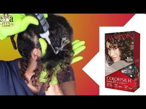 Como pintar el cabello rizado natural  Revlon Silk Hair color