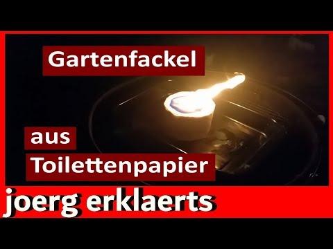 Gartenfackel Fackel aus Toilettenpapier Vol.5