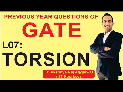 L 07 Torsion | Strength of Materials (SOM) | GATE Previous Year Questions | COMPETE INDIA ZONE (CIZ)