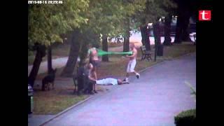 Patologia ze Szczecinka w akcji! Pod dworcem skopał faceta i jego kobietę!