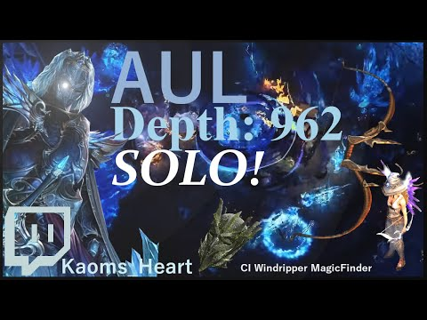 Aul, The Crystal King(962) Solo! W. Ci Mf Char (dps Setup)