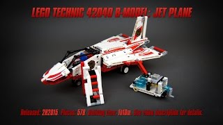 'Lego Technic 42040 B-model: Jet Plane' Speed Build & Review