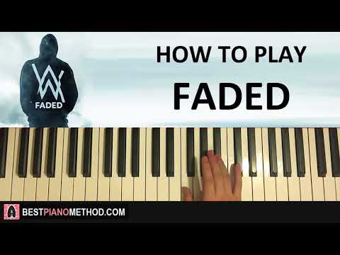 HOW TO PLAY - Alan Walker - Faded (Piano Tutorial Lesson)