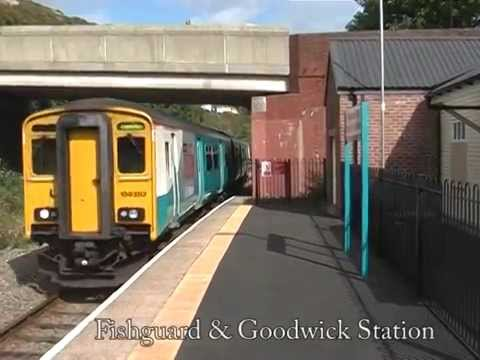 Class 150 train at Fishguard & Goodwick station