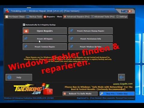 Windows Repair 2018. Windows-Fehler finden & reparieren.