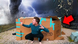 "ULTIMATE BOX FORT Vs TORNADO CHALLENGE ""Will We Survive?"""