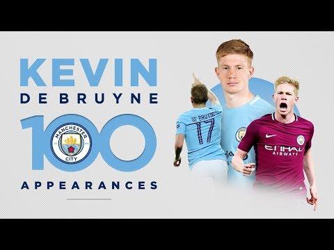KEVIN DE BRUYNE - 100 GAMES   Best Man City Moments!