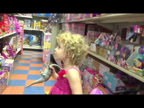 Toy Store - I took Adela to the toy store to buy a present for her friend's birthday. Of course, she wanted a
