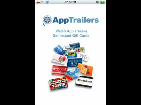 AppTrailers - Earn Gift Cards & Cash (iTunes, Amazon eBay, StarBucks, Facebook)