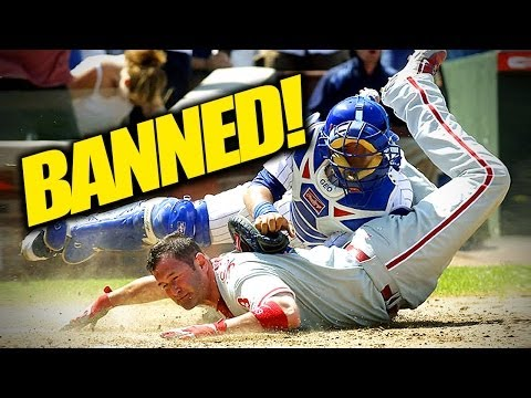 Home Plate Collisions Banned in Baseball%21%21