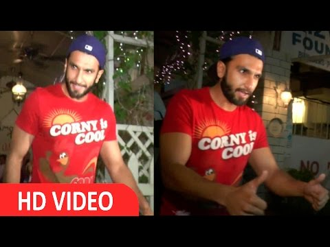 Ranveer Singh Spotted At Paali Hill Bandra