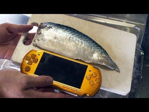 日本神人用PSP做飯糰!