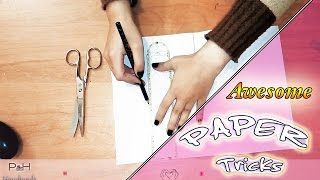 Hi everybody, in this video, we show you some funny awesome paper tricks, enjoy !----------------------- Follow us in Social Media   -------------------------Facebook : https://www.facebook.com/PH-Handmade-458911934269450/?ref=hlTwitter      :  https://twitter.com/PH_handmadeİnstagram :  https://www.instagram.com/ph_handmade/Skype         :  P&H HandmadeSUBSCRİBE : https://www.youtube.com/channel/UCUxBk6sDsU2t1NAw4bcgGnQ------------- Watch another videos --------------How to make : origami moving cubes : https://www.youtube.com/watch?v=ndGMSE8TjX0&index=10&list=PLbzIiG58yuesnef9OufB9oshh5zK5a2wQHow to make nightmare freddy's claws : https://www.youtube.com/watch?v=qJU1I3MZcyY&list=PLbzIiG58yuesnef9OufB9oshh5zK5a2wQ&index=11Red hot nickel ball reactions : https://www.youtube.com/watch?v=4xQmNbqpVR0&list=PLbzIiG58yuevj7zYv8vzxYf7g2G0GFFZu