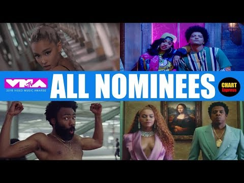 VMA's 2018 - ALL NOMINEES | 2018 MTV Video Music Awards Nominations | August 20, 2018 | ChartExpress