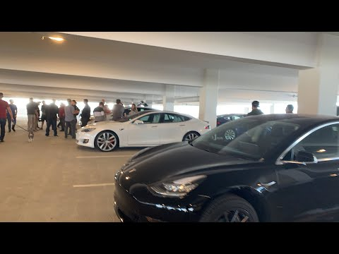 Tesla YouTuber Meet Up before Model Y Unveiling