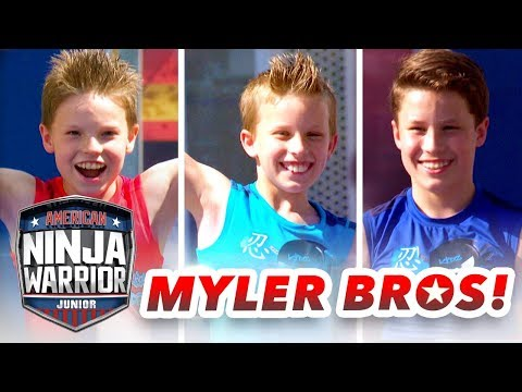 Myler Brothers NINJA COURSE SHOWDOWN (Ninja Kidz TV) | American Ninja Warrior Junior