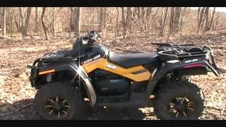 9. 2011 Can Am  Outlander Max 800 XT-P Trail Ride Demo