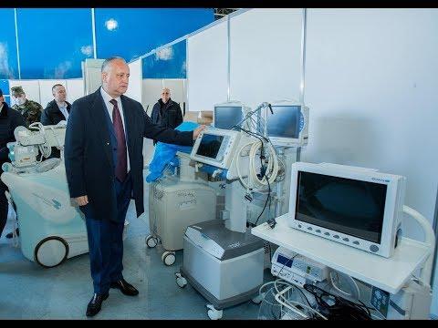 Президент ознакомился с ходом работ по обустройству карантинного центра в Кишиневе