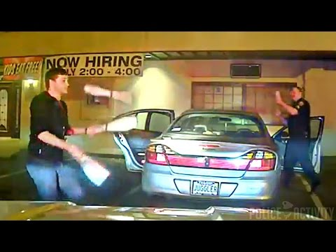 Dashcam Shows Student Juggles to Prove Sobriety to