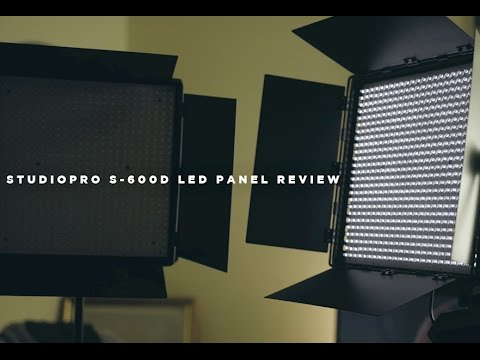 Best Budget LED Panels?! (StudioPro S-600D Review)