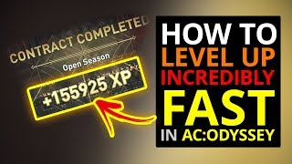 How To Level Up FAST In AC Odyssey!