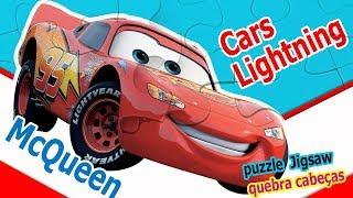 Jogos de meninas - Disney Cars Lightning McQueen puzzle  Jigsaw quebra cabeças Game For Kids Rompecabezas 3#cars