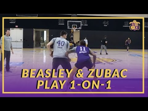 Video: Lakers Practice: Michael Beasley & Ivica Zubac Play one-on-one After Practice