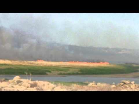 Incêndio no Açude do Rio, em Angicos-RN
