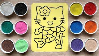 Video Đồ chơi trẻ em TÔ MÀU TRANH CÁT TIÊN CÁ HELLO KITTY - Sand painting Hello Kitty Toys Kids MP3, 3GP, MP4, WEBM, AVI, FLV Maret 2019