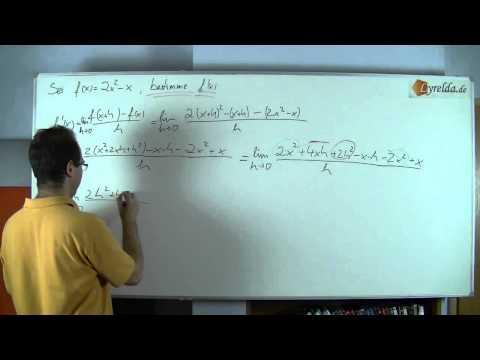 Ableitung h-Methode Lösung 2