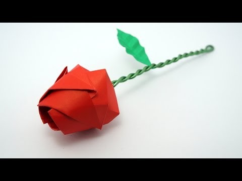 Origami Rose tutorial (Davor Vinko)