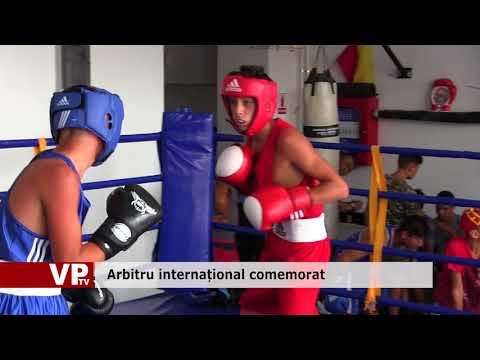 Arbitru internațional comemorat
