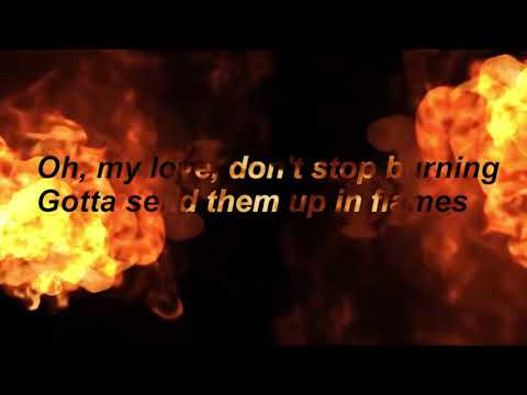 David Guetta Ft Sia - Flames (Lyrics)