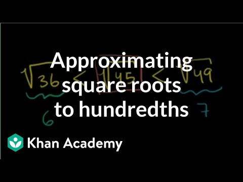 Approximating square roots to hundredths | Pre-Algebra | Khan Academy