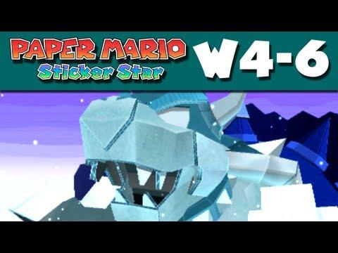 Paper Mario Sticker Star - W4-6 - Bowser's Snow Fort (Nintendo 3DS Gameplay Walkthrough)