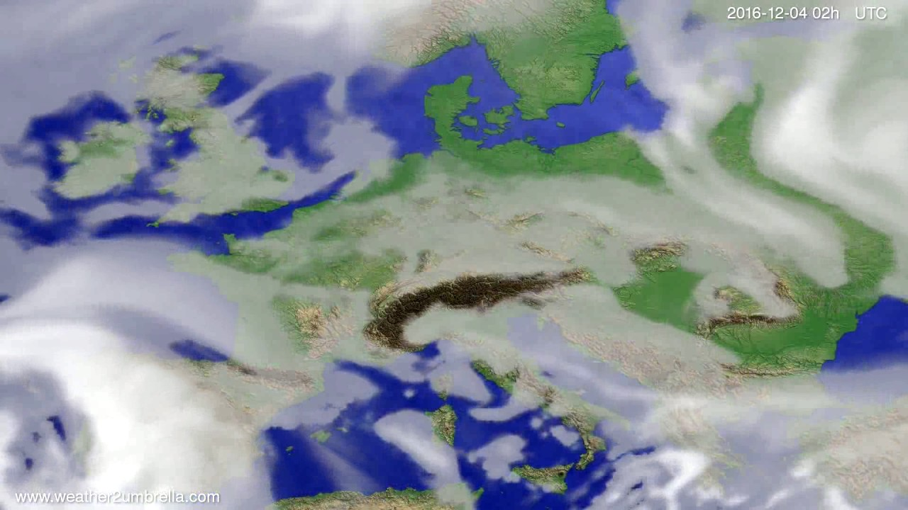 Cloud forecast Europe 2016-11-30