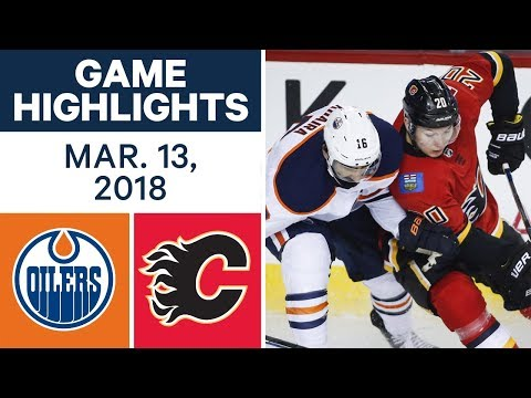 Video: NHL Game Highlights | Oilers vs. Flames - Mar. 13, 2018