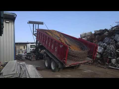 Ace 36' Roll-Off Trailer Video - Dumping Container's Contents