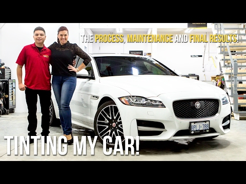 Getting my 2017 Jaguar XF 20d R-Sport windows tinted. The Process, Maintenance and Final Results!