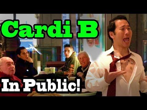 SINGING IN PUBLIC - CARDI B
